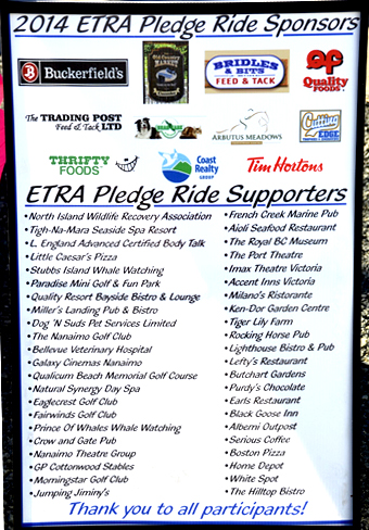 Thank you for your generous support of the 2013 Pledge Ride